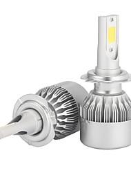 Kits de la conversión de la linterna de 2pcs h7 7200lm con la viruta de la mazorca del bridgelux de los bulbos de la linterna