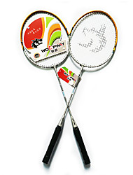 Badminton Rackets Durable Lightweight Ferroalloy One Pair for