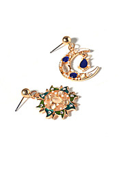 Rhinestone Moon Dangle Earrings Jewelry Euramerican Vintage Daily Casual Alloy Opal 1 pair
