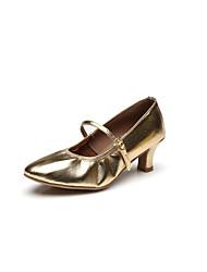 Customizable Women's Kids' Dance Shoes Leather Modern Sandals Heels Cuban Heel Performance