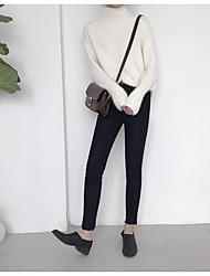 Знак весна новый простой дикий твердый цвет джинсы женская ноги тонкий был тонкий карандаш брюки нетто