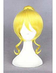 Short Curly Love Live!-eli ayase Synthetic Blonde Anime Cosplay Ponytail WigCS219A