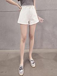 signe mince version coréenne de la taille de pompons flash pantalons jambes larges sauvages denim Shorts étudiantes