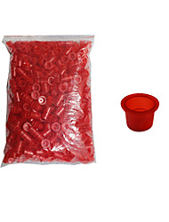 Solong Tattoo 1000 pcs Tattoo Inks Cups Plastic Caps Medium Size Red Color TC102-2