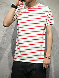 New striped T-shirt male models Japanese cotton 94% spandex 6%