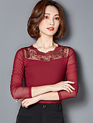 Sign gauze bottoming shirt long sleeve lace shirt