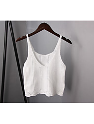 Sign Spring Hollow short section of small loose camisole female summer bottoming sleeveless sweater thick line outside
