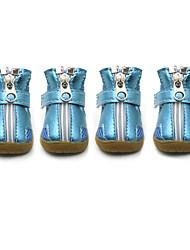 Perros Zapatos y Botas Moda Deportes Un Color Plata Naranja Fucsia Verde Azul