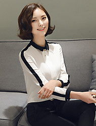 Sinal -1 # solo coreia sinal 2016 primavera novo polo colar de manga comprida preto e branco clássico hit color