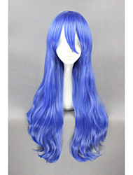 Long Curly DATE A LIVE-Yoshino Blue 28inch Anime Cosplay Wigs CS-188A