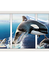 Leap Whale 3D Sitting Room The Bedroom Decorates A Wall Post
