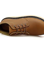 Для мужчин Ботинки С Т-образной перепонкой Резина Весна Повседневные Для прогулок С Т-образной перепонкой На плоской подошве ХакиНа