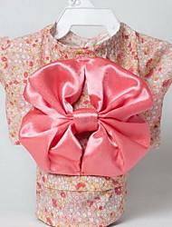 Chien Smoking Vêtements pour Chien Eté Fleur Mignon Mariage Cosplay Anniversaire Nouvel An Rose Noir