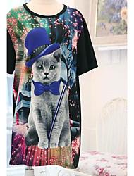 корея покупки же пункт pinknbabi фантазии моды случайные футболки котенка