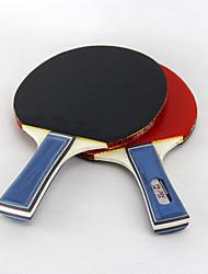 3 Estrellas Ping Pang/Tabla raquetas de tenis Ping Pang/Pelota de tenis de mesa Ping Pang Goma Mango Corto Las espinillas2 Raqueta 3