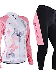 Cycling Jersey with Tights Women's Long Sleeve Bike Pants/Trousers/OvertrousersUltraviolet Resistant Breathable Soft Comfortable