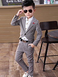 Boys' Casual/Daily Solid Sets,Polyester Spring Clothing Set