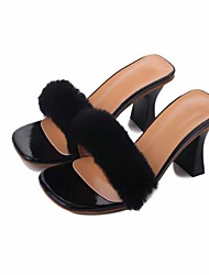 Women's Heels Summer Club Shoes Leatherette Party & Evening Dress Casual Stiletto Heel Rhinestone Buckle Black Red Beige Walking