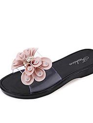 Women's Sandals Spring Summer Fall Comfort PU Casual Flat Heel Flower