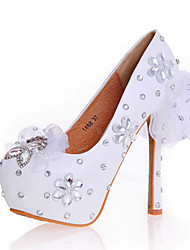 Women's Heels Spring Summer Fall Comfort Novelty Patent Leather Wedding Party & Evening Dress Stiletto HeelCrystal Applique Sparkling