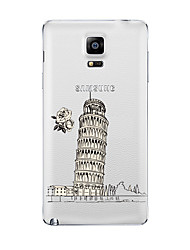 Pour Transparente Motif Coque Coque Arrière Coque Paysage Urbain Flexible PUT pour Samsung Note 5 Note 4 Note 3 Note 2