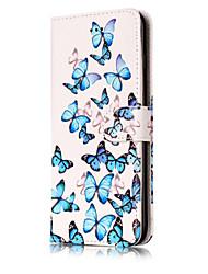 Pour Portefeuille Porte Carte Avec Support Clapet Motif Coque Coque Intégrale Coque Fleur Dur Cuir PU pour AppleiPhone 7 Plus iPhone 7
