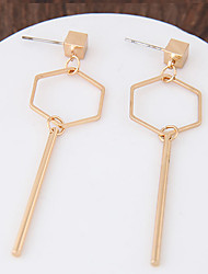 Geometric Drop Earrings Jewelry Geometric Fashion Daily Casual Alloy 1 pair Gold