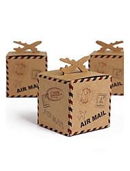 50 Шт./набор Фавор держатель-Кубик КартонКоробочки Мешочки Сувенирные шкатулки Горшки и банки для конфет Упаковка и коробки для кексов