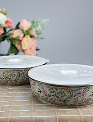 Arika Flowery Styled High Temperature Porcelain Air-tight Dinnerware