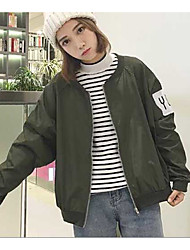 Assinar harajuku bf letra baseball uniforme casaco
