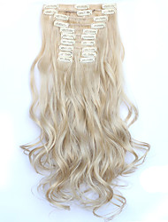 12pcs/Set 150g  Honey Blonde Wavy Hair Extension Clip In Synthetic Hair Extensions