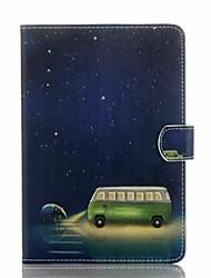 Pour Portefeuille Porte Carte Avec Support Clapet Coque Coque Intégrale Coque Dessin Animé Dur Cuir PU pour AppleiPad Air 2 iPad Air iPad