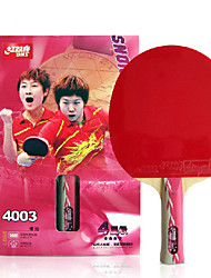 4 Stars Table Tennis Rackets Ping Pang Wood Long Handle Pimples Indoor Performance Practise Leisure Sports-#