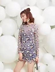 Sp 2017 весна звезда с платьем сексуальное платье кружева женщины тонкий была тонкая юбка базы