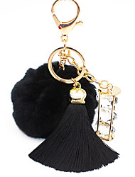 Key Chain Circular Key Chain Black White Blue Pink Gray Purple Metal