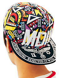 Women 's Summer Cotton Cartoon Multicolored Geometric Print Totem Embroidery Graffiti Baseball Cap Hip Hop Couple Hat