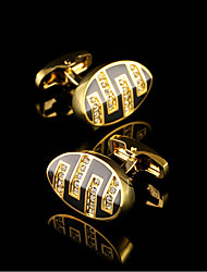 Gold Luxury Shirt Cufflinks for Mens Gifts Brand Cuff Buttons Crystal Cuff links Euramerican Men's Cuff Wedding Jewelry