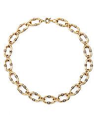 Mulheres Colares Declaração Formato Oval Original Moda Dourado Jóias Para Casamento 1peça