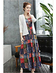 Literary cotton summer new women dress two-piece dress was thin loose big swing skirt suit