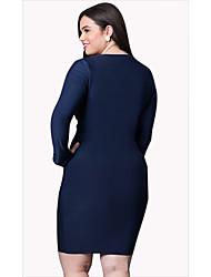 Damen Solide Sexy Formal T-shirt,V-Ausschnitt Langarm Baumwolle