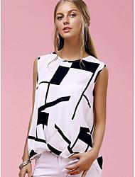 Место 2017 новой внешней торговли Ebay Aliexpress моделей взрыва в Европе и Америке свободные без рукавов ласточкин хвост печать футболки