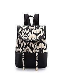 Moda impressão casual mini saco peito mulheres lona mini mochila