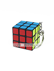 Rubik's Cube Smooth Speed Cube Smooth Sticker Adjustable spring Magic Cube Key Chain