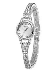 Women's Fashion Watch Quartz Alloy Band Silver