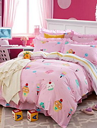 Set of 4 Pieces Cotton Bedding Quilt 160*210 Bed Linen*1 Pillowcase*2