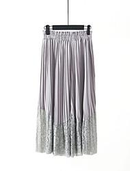 Goddess of spring and summer must-crimped lace stitching chiffon wide leg pants wild jianling