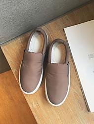 Черный Серый-Для женщин-Повседневный-Ткань-На плоской подошве-Удобная обувь-Мокасины и Свитер