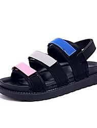 Women's Sandals Spring Summer Fall Comfort Fabric Casual Flat Heel Hook & Loop