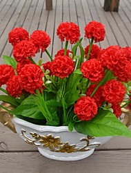 1 Une succursale Plastique Hortensias Fleur de Table Fleurs artificielles 25*25*25