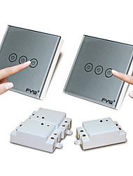 contrôleur double contrôle fyw trois tactile bande de commutation à distance pas besoin de couper le câblage mural peut être collé dans un